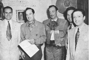 Los Embajadores con Pedro Infante y Jorge Negrete