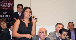 Betty Fernández Presidenta de Fundación Amantes de México,A.C., Organización que Patrocina la Copa Qatar México