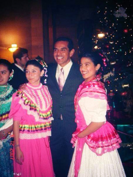 con el Alcalde de Los ángeles Antonio Villaraigosa