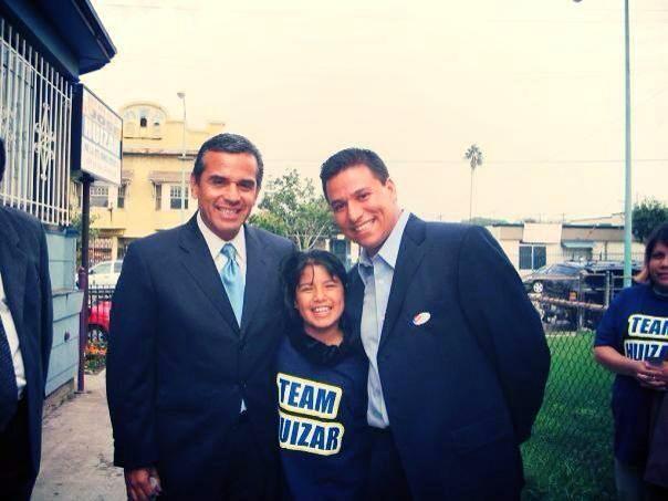 con el Alcalde de Los ángeles Antonio Villaraigosa y el Consejal del distrito 14 José Huizar